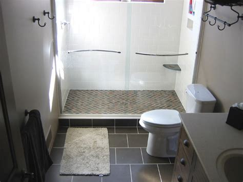 easy bathroom remodel ideas stone floor tiles for small bathroom remodel ideas with white interior color and nice glass