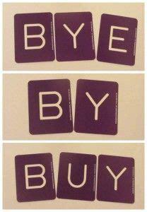 bye  buy teaching homophones