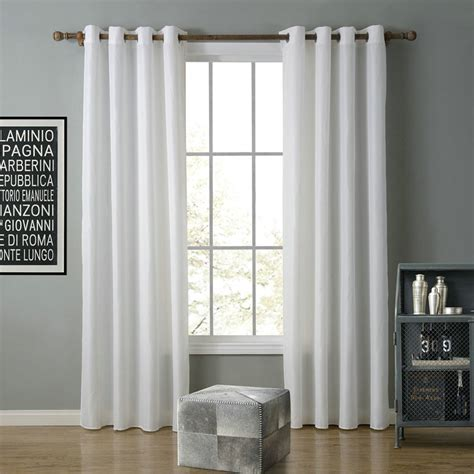 Modern Simple White Curtain Solid Color Finished Curtains