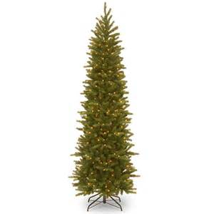 5ft Pre Lit Slim Christmas Tree by 6ft Pre Lit Grande Fir Pencil Feel Real Artificial