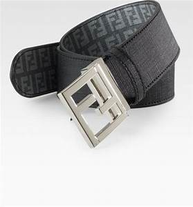 Fendi Logo Reversible Belt in Gray for Men (grey) | Lyst