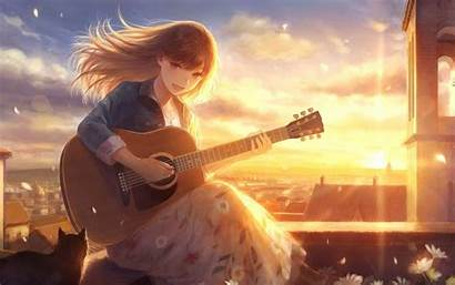Anime Guitarist Guitar Singing Instrument Wallpapers Wallpaperaccess