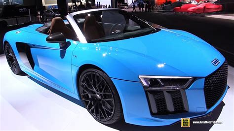 audi supercar convertible 2017 audi r8 convertible exterior and interior