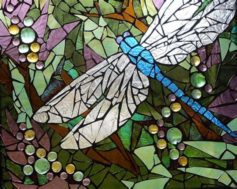 dragonfly stained glass l mosaic stained glass blue dragonfly 50 50 glass art by