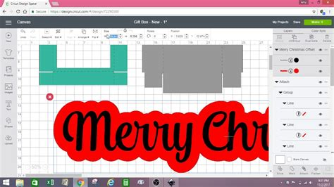 inkscape  design space gift box tutorial youtube