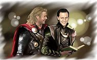 Loki and Thor Brothers