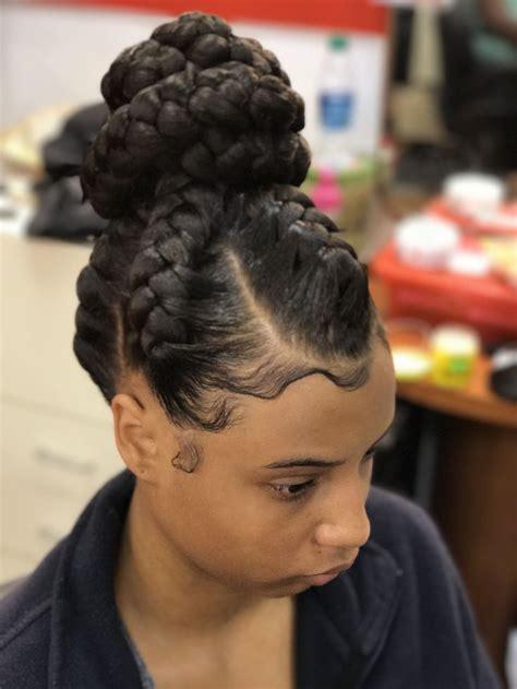 goddess braid bun bun updo braidedhairstyles