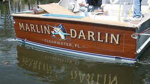 marlin darlin clearwater florida boat transom boats With transom lettering