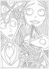 Halloween Coloring Burton Tim Printable Corpse Bride Colorear Colorare Math Erwachsene Malbuch Fur Adultos Adulti Disegni Adult Worksheets Adults Popular sketch template