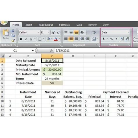 mortgage amortization table excel amortization loan schedule excel
