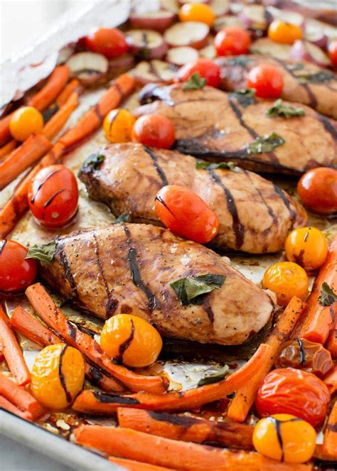 pan balsamic chicken  veggies  heart nap time