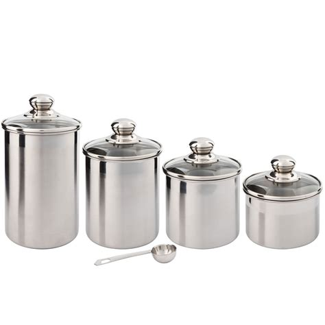 beautiful kitchen canisters canister set stainless steel beautiful canisters for