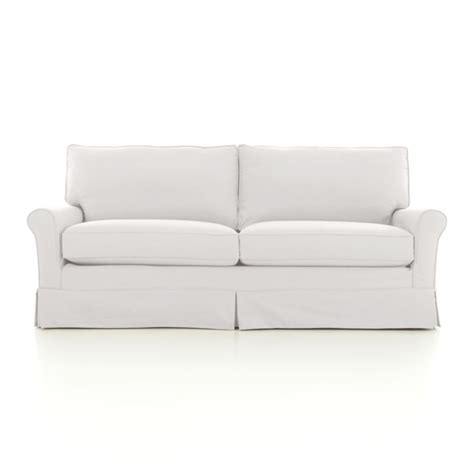 Crate And Barrel Apartment Sofa by Harborside Slipcovered Apartment Sofa Crate And Barrel