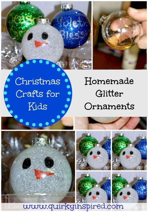 christmas crafts  kids glitter ornaments