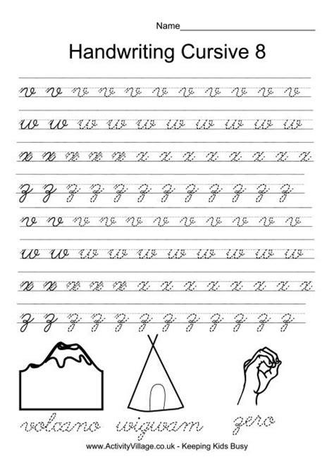 handwriting sheets  year  handwriting worksheets