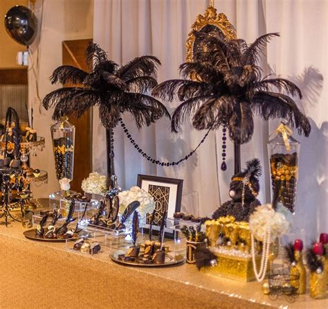 Great Gatsby baby shower Black Gold Weddings in 2019
