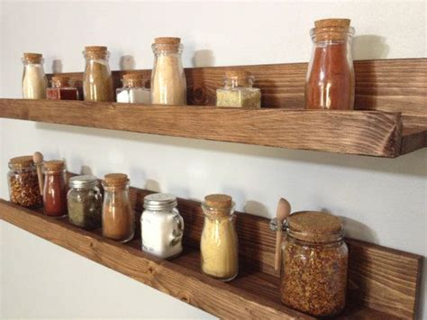 Wooden Spice Rack Shelf by Our Rustic Wooden Spice Rack Shelves Save Counter Space