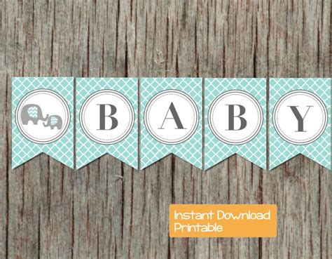 baby shower banner printable sweet bumpandbeyonddesigns