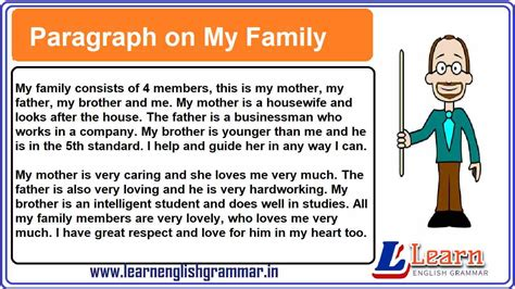 paragraph   family  english  students