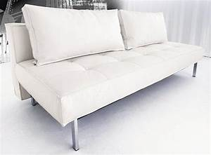 canape lit design sly deluxe facon cuir blanc innovation With canape convertible cuir blanc design