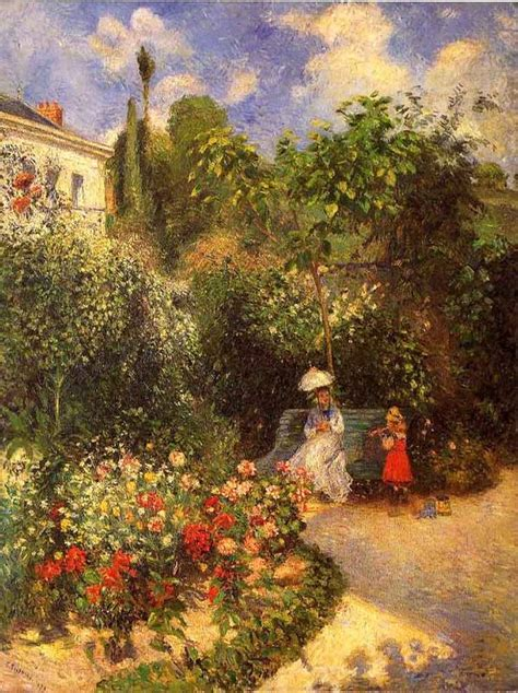 Jardins De Camille by Le Jardin De Pontoise Par Camille Pissarro Cyrano