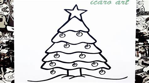 como dibujar un 225 rbol de navidad how to draw a christmas