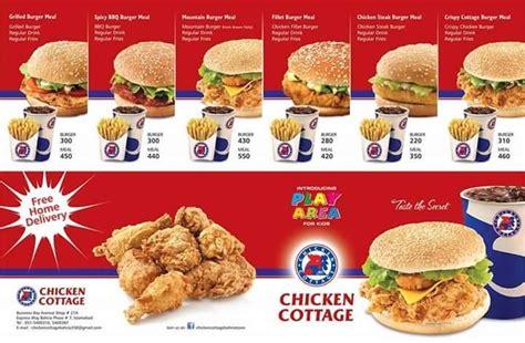 chicken cottage menu chicken cottage restaurant in bahria town rawalpindi