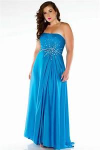 Femme Ronde Robe : robe de soir e bleu longue bustier droit pour femmes rondes ~ Preciouscoupons.com Idées de Décoration