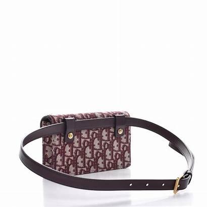 Belt Dior Bag Bordeaux Christian Saddle Oblique