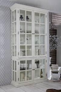 Vitrinenschrank Weiß Landhaus : vitrinenschrank hoch wei nostalgie landhaus m bel kaufen bei helga freier ~ A.2002-acura-tl-radio.info Haus und Dekorationen