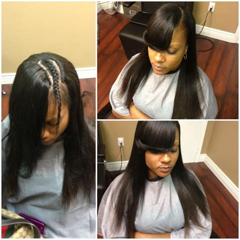 Sew In Hairstyles With Side Bangs by 17 Best Ideas About Sew In With Bangs On