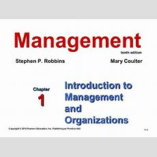 Ch 1 Introduction To Management And Organizations