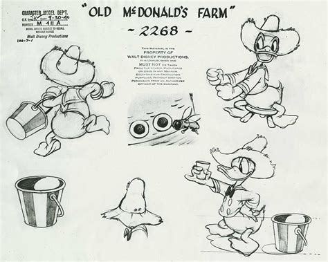 donald duck model sheets traditional animation