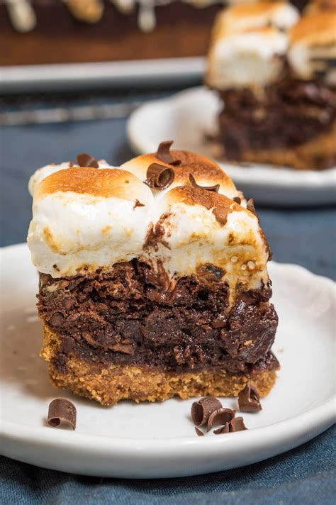 s mores recipes thick fudgy s mores recipe hostess at heart