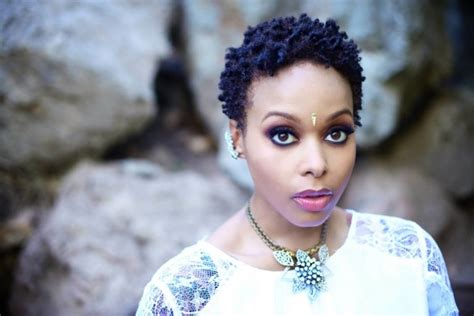 chrisette michelle natural short hairstyle