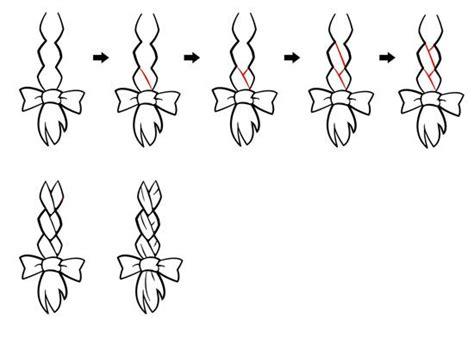 drawn braid simple pencil   color drawn braid simple
