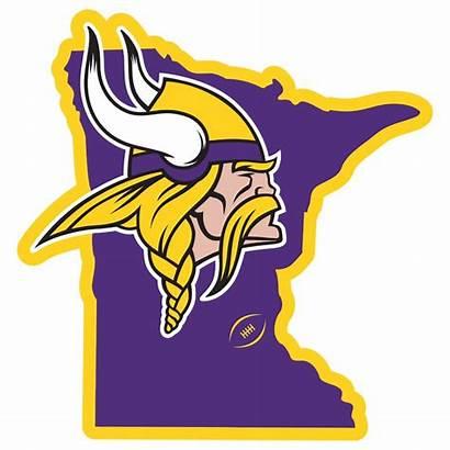 Vikings Minnesota Mn Clipart State Nfl Magnet