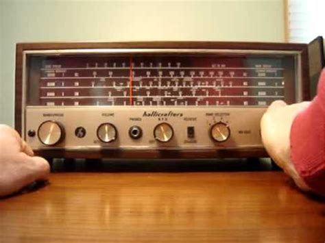 hallicrafters shortwave radio wr    youtube