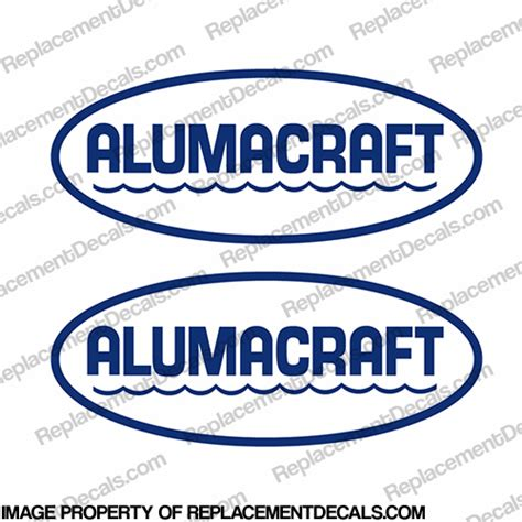 Logo Replacement by Alumacraft Boat Logo Decals Style 1 Set Of 2