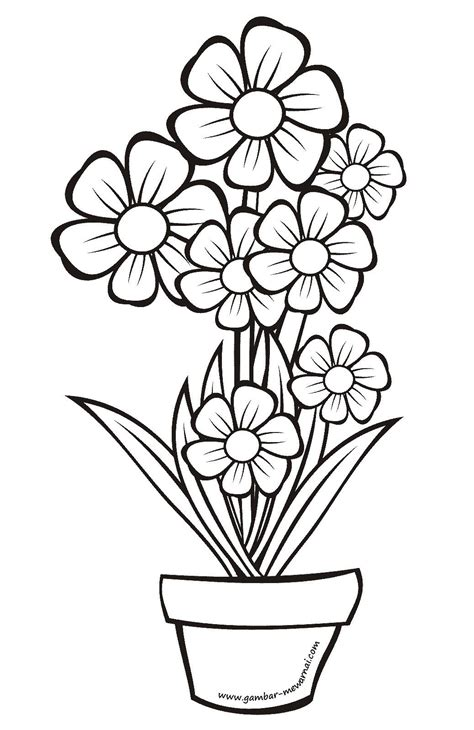 wow 27 sketsa bunga bagus