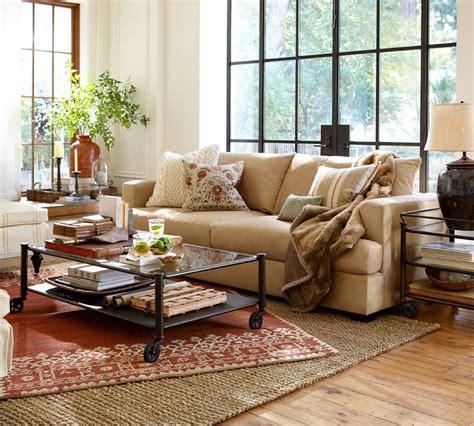 terracotta sofa living room pottery barn living room to nest living rooms pinterest