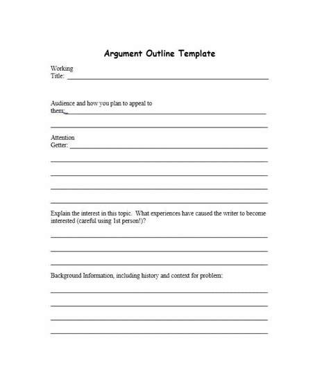 outstanding essay outline templates argumentative