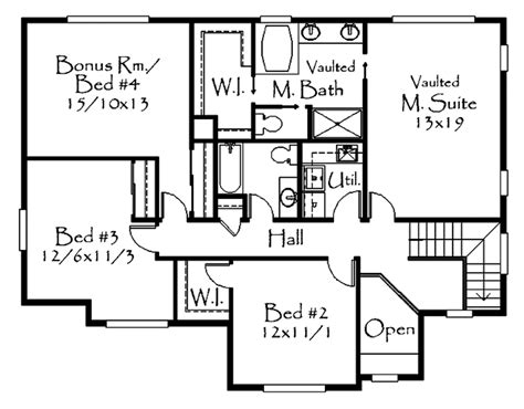 Craftsman Style House Plan 4 Beds 4 Baths 2472 Sq/Ft