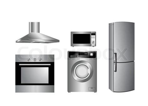 Vector detailed household appliances icons   Stock Vector