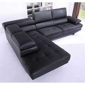 canape grand angle en cuir avec tetieres reglables With tapis exterieur avec canape double meridienne