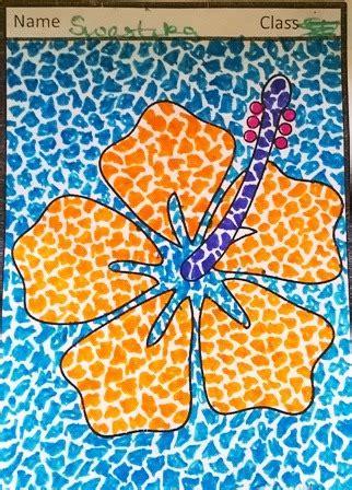 mosaic art hibiscus flowers