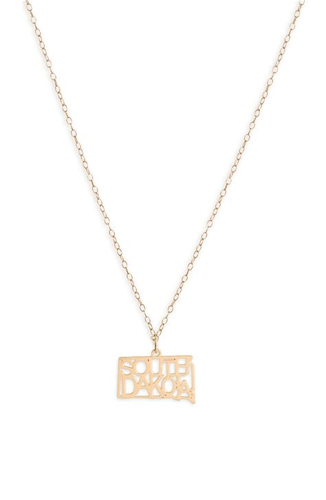 Kris nations state necklaces traumspuren kris nations state pendant necklace in gold south dakota aloadofball Images