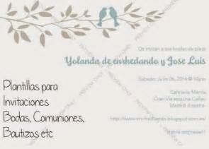 formato de invitaciones de boda plantillas de invitaciones de bodas y otros eventos