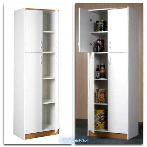 kitchen pantry storage cabinet  door wood organizer furniture cupboard white ebay