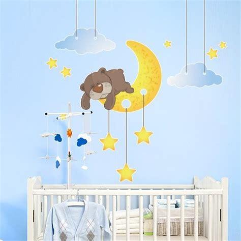 chambre bébé lune stickers chambre bébé pour un éveil apaisé et souriant